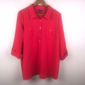 OH BABY by MOTHERHOOD Red Silky Button up Blouse